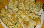Яичные блинчики с ветчиной, сыром и зеленью