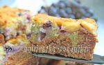 Пирог на кефире «день и ночь» с фруктами в духовке