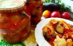 Баклажаны с помидорами на зиму в мультиварке