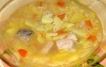 Суп из консервированного тунца в мультиварке