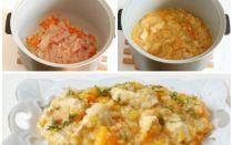 Ячневая каша с тыквой, морковью и луком в мультиварке