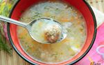 Суп с рисом и рыбными фрикадельками в мультиварке