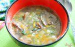 Гречневый суп с грибами в мультиварке