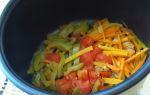 Легкое тушеное с овощами в мультиварке