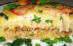 Картофельная запеканка с рыбой в мультиварке