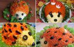 Салат ёжик с корейской морковью