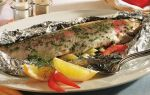 Рыба с овощами в фольге в мультиварке